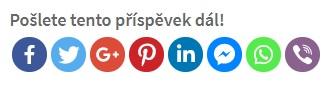 Tlačítka pro sdílení na sociálních sítích najdete u každého článku na webu czechtongue.cz