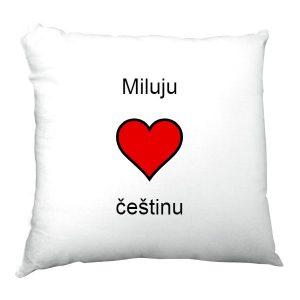 Polštářek Miluju češtinu