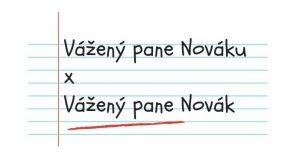 Oslovení: Vážený pane Nováku vs. Vážený pane Novák